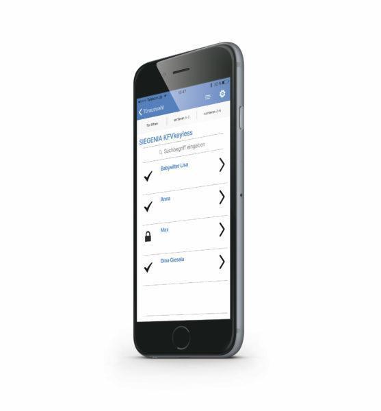 KFVkeyless Benutzer iPhone seitlich