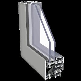 Plastixal Imperial SU z ukrytym skrzydłem Aliplast profile
