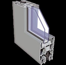 Plastixal Imperial SU ze skrzydłem otwieranym na zewnątrz Aliplast profile