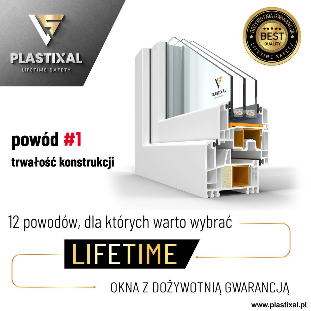 Okno Lifeitme z dożywotnią gwarancją
