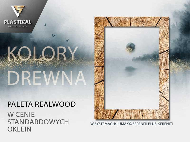 Okna w kolorach drewna, okleiny drewnopodobne Realwood