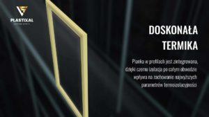 pianka w profilu okiennym okna aluminiowego Equaliti Plastixal